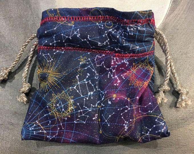 Constellation Lined Drawstring Bag