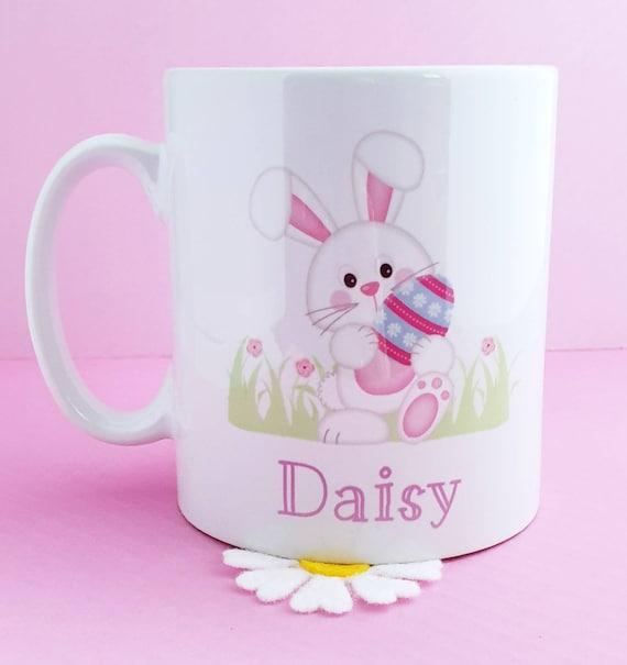 Nanny Gifts for Grandma Name on a Mug Personalised Easter Bunny mug