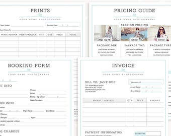 photography forms client booking form for photographer sign up template invoice template photography pricing guide photography prints