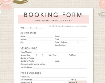 photography forms client booking form for photographer photoshop template for photographers photography contract sign up form