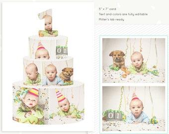 cake smash photo collage template first birthday cake smash etsy