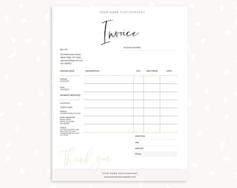 invoice template printable invoice photography invoice handwriting business invoice receipt template photography forms photoshop