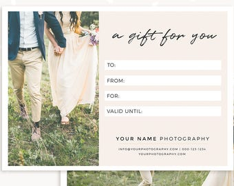 gift certificate template 7x5 photo gift card printable photoshop template photography gift certificate psd postcard gift certificate