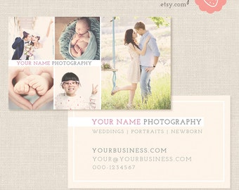 Photography business card etsy photography business card template photoshop template photo business cards photography marketing business card for photographers flashek Choice Image