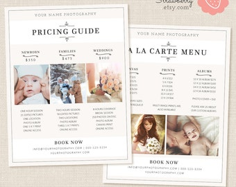 Photography Pricing List, Price List Template, Photoshop Template, Wedding Pricing Template, Wedding Price List, Pricing Guide, Beige Doodle