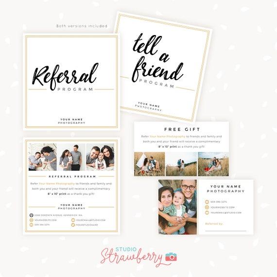 referral cards referral card template referral program. Black Bedroom Furniture Sets. Home Design Ideas