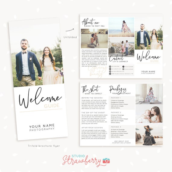 Trifold Brochure Template For Photographers Letter Size Etsy