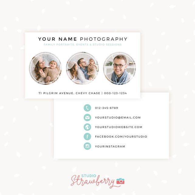 Photography Business Card Template Photoshop Template Photo