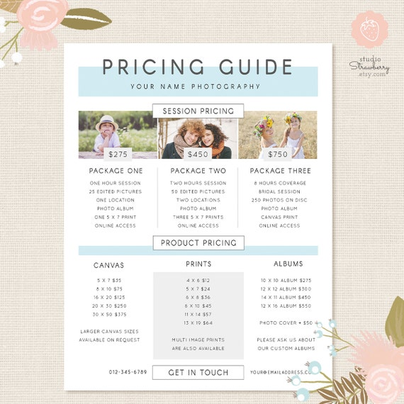 Pography Pricing Template | Photography Pricing Template Pricing Guide Template Pricing Etsy