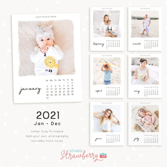2021 photo calendar template, printable calendar, photography calendar, calendar printable, monthly calendar, letter size calendar download