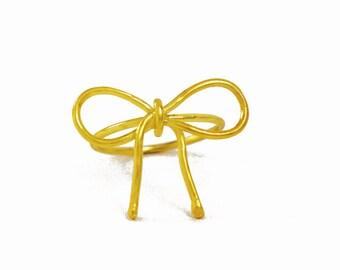 Noeud en bague, attachez la bague noeud, cadeau de demoiselles d honneur,  bague Ruban, anneau de tous les jours, bague en argent massif plaqué or, ... 06f5dda36a7