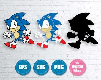 Sonic Svg Etsy