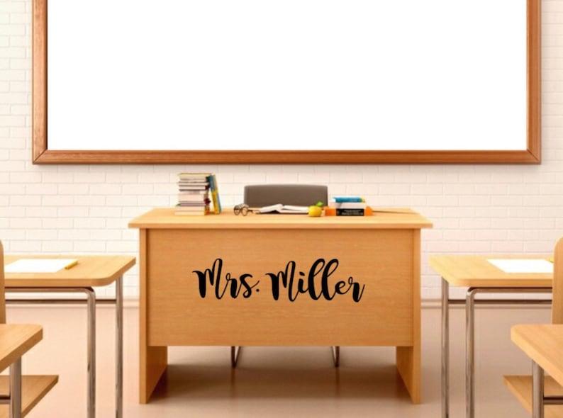 Teacher Name Vinyl Decal Classroom Door Decal Teacher image 0