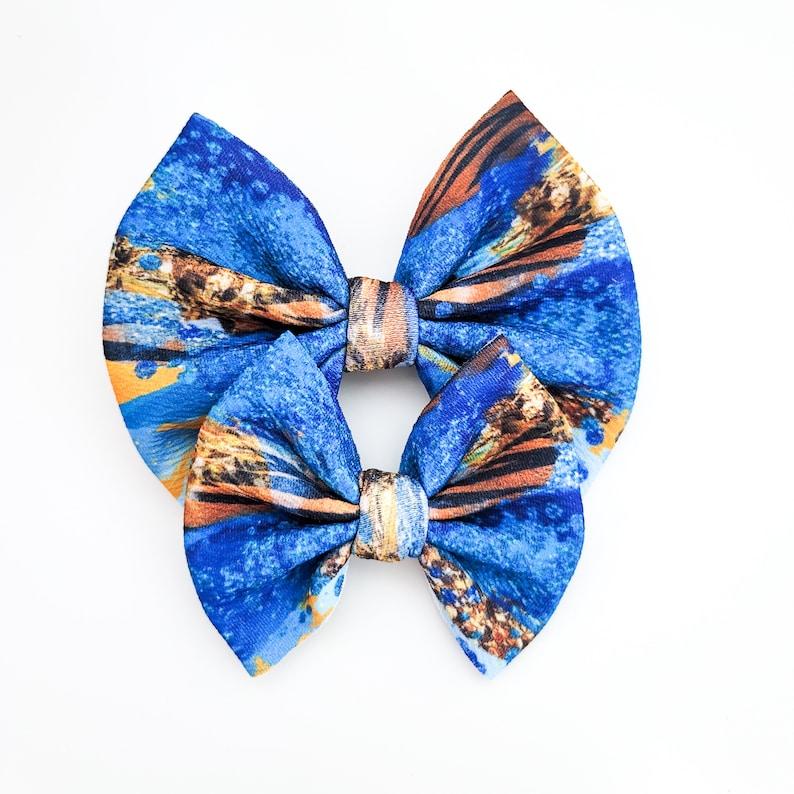 Oasis Princess Fabric Hair Bow Bullet Hair Bow Girls Hair Bow Big Hair Bow Baby Headband SOPHIA Hair Clip