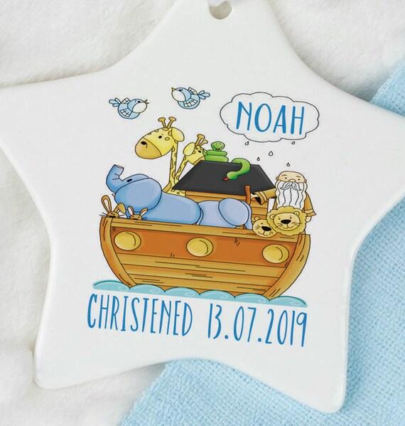 Noahs Arche Taufe Geschenk Für Jungen Und Mädchen Noah Taufe Geschenk Ideales Geschenk Für Ein Baby Taufe Taufe Geschenk Taufe Geschenk Für Jungen
