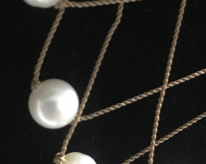 Floating Silk Pearl Necklace