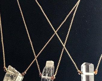 Crystal Quartz Silk Necklace