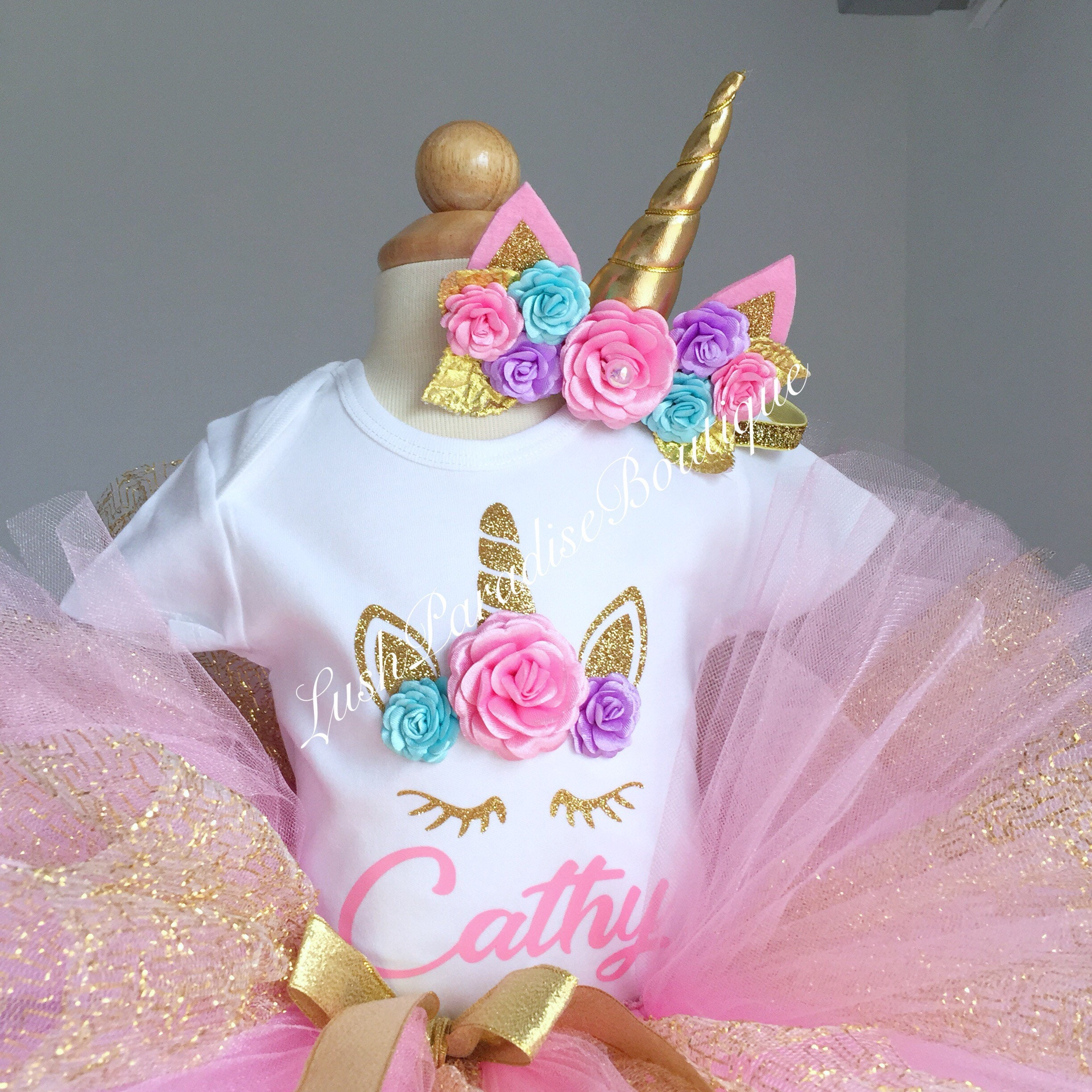 unicorn birthday outfit baby girl birthday outfit  etsy