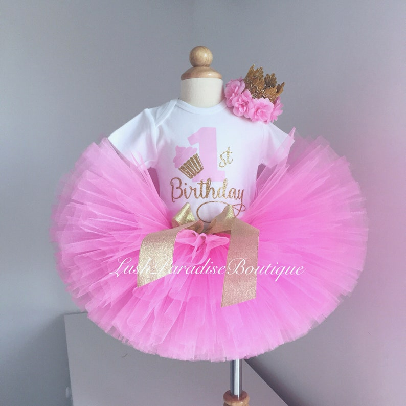 Princess birthday outfit First birthday outfit Pink and Gold first birthday outfit