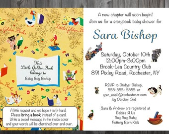 Personalized Storybook Baby Shower Invitations