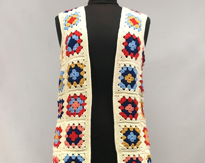 pure wool crochet gilet