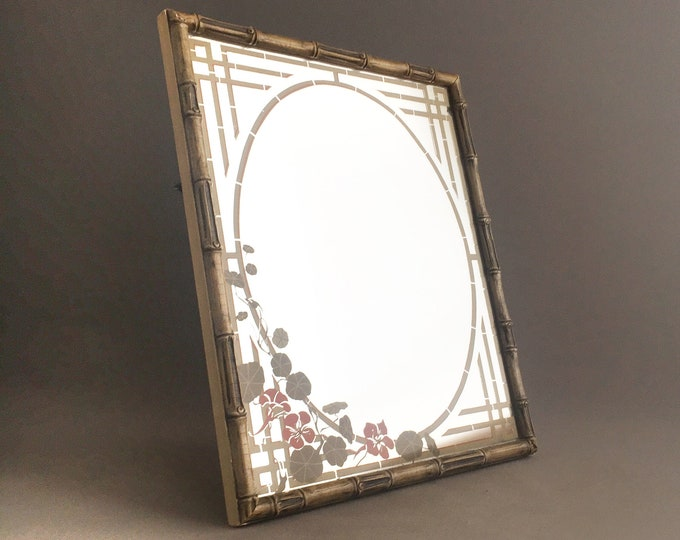1970s hand printed mirror
