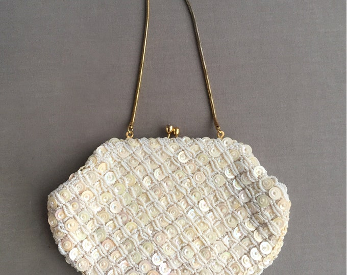 1950s sequin handbag