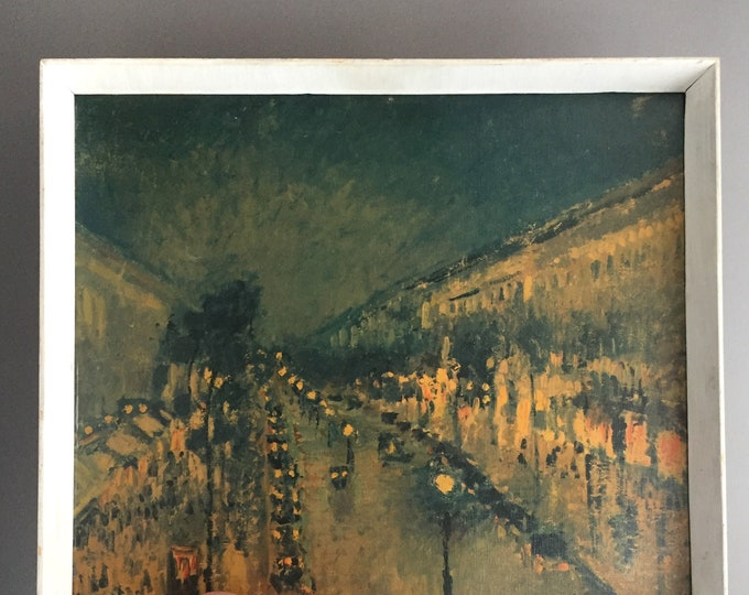 1960s framed print of Boulevard Montmartre by Camille Pissarro