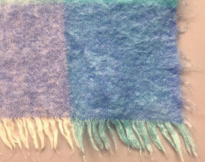 Mohair and wool blanket