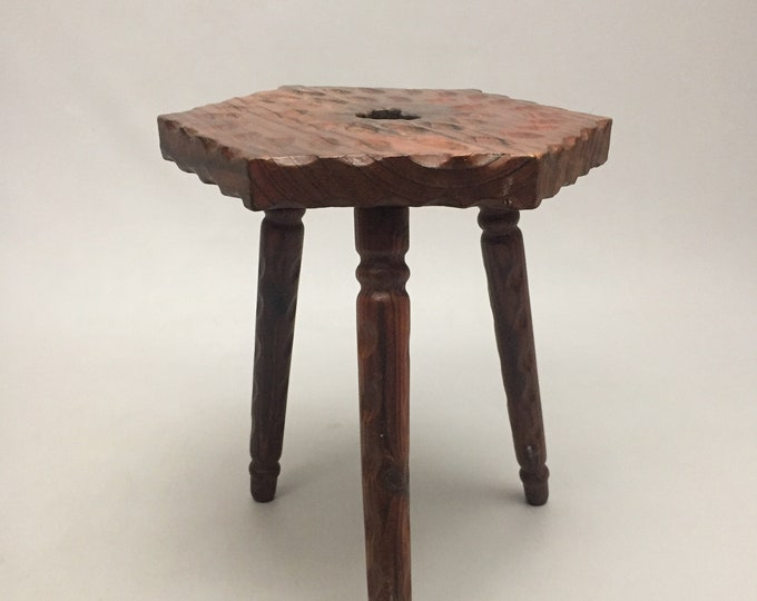 wooden milk stool