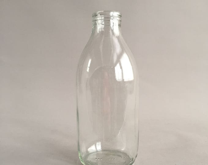 Vintage glass milk bottle pint