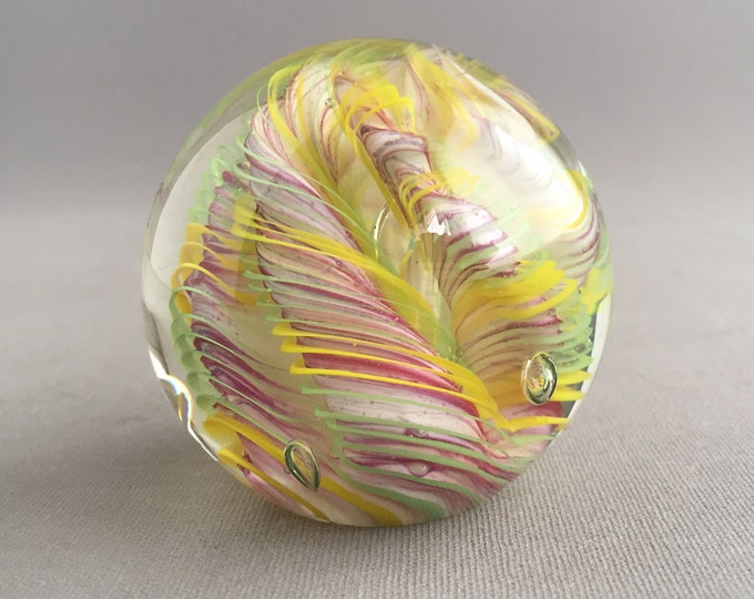 glass bauble paper weight