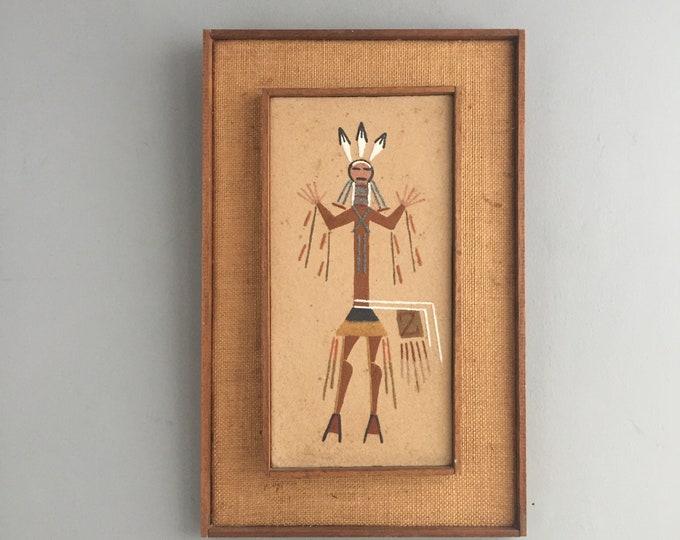1970s Navajo Sand Painting, american folk art