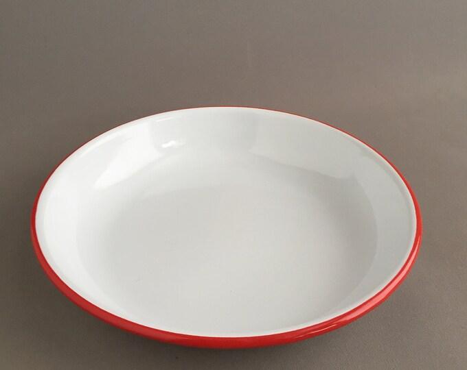 Enamel bowl plate