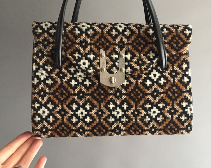 1960s Welsh tapestry hand bag
