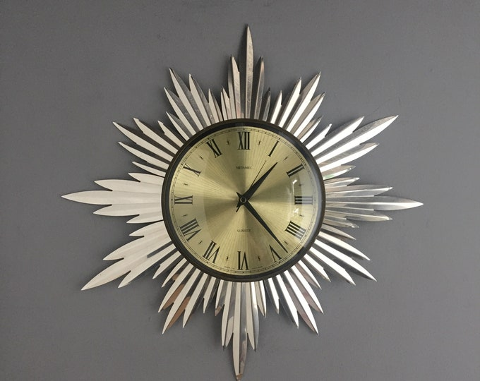 star burst clock by Metamec