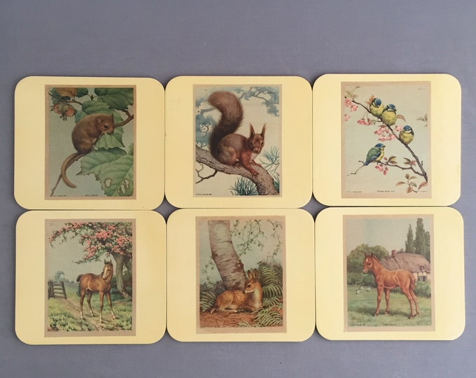 1950s place mats/ coasters