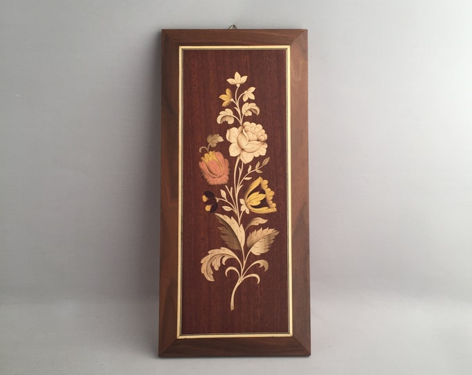 Marquetry flower picture