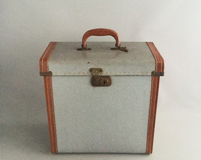 1960s record carry case suitcase