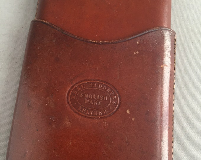 old leather cigarette case