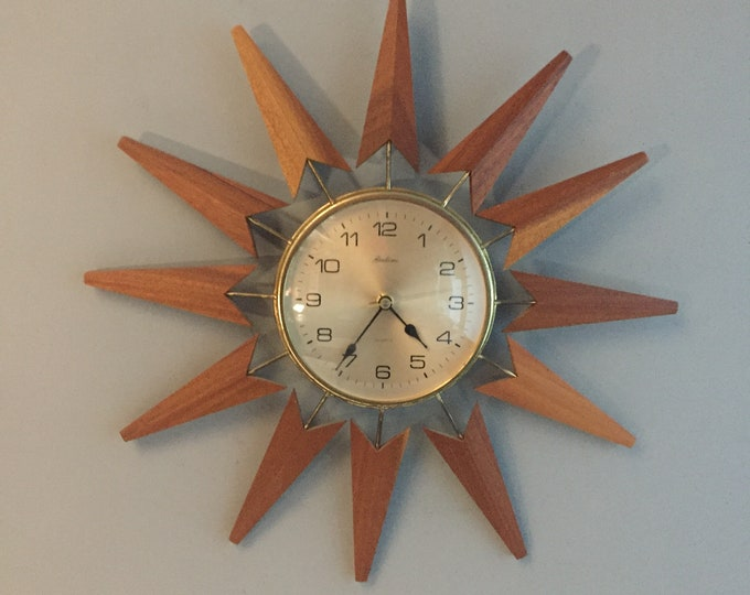 1960s sunburst / starburst clock