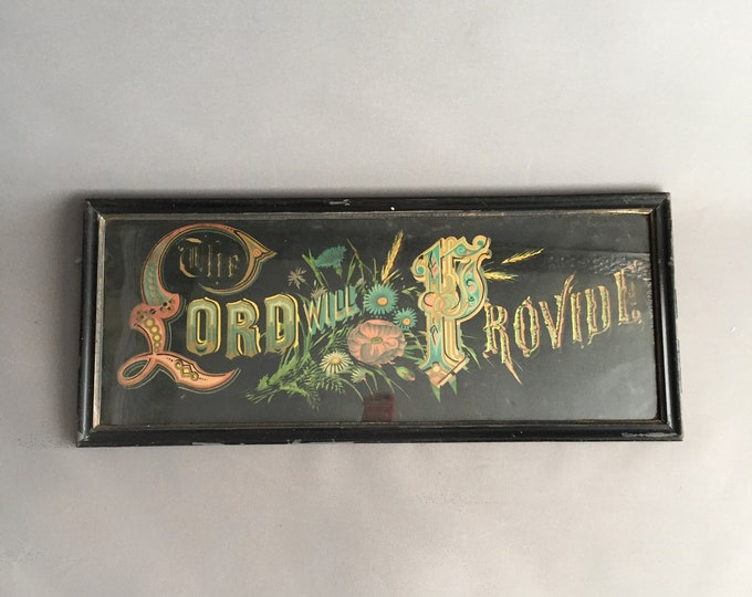 Victorian painted framed sign