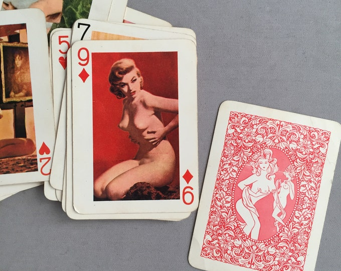Club girl nude lady deck of cards