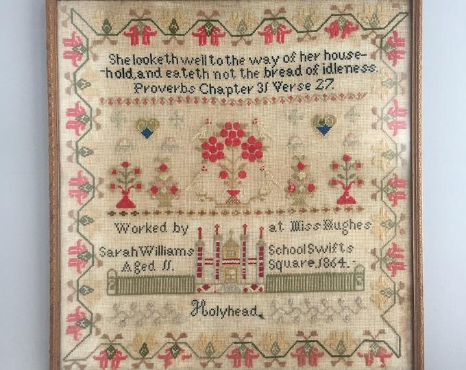 1864 wool sampler