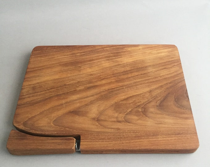 1970s teak cheese board