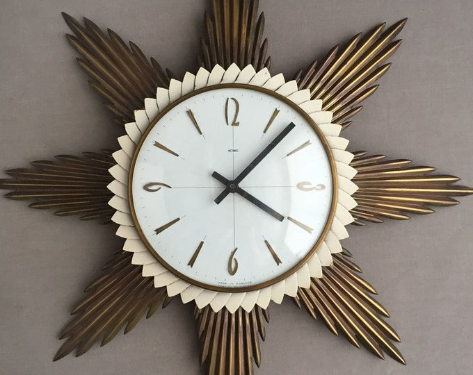 1960s star burst clock
