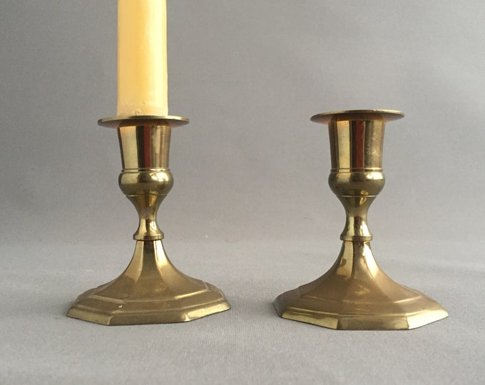 brass candle stick holders pair