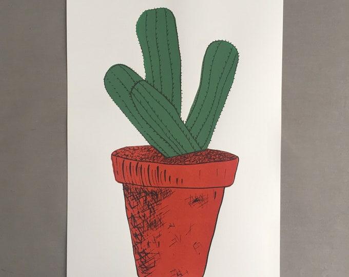 cactus screen print no 1