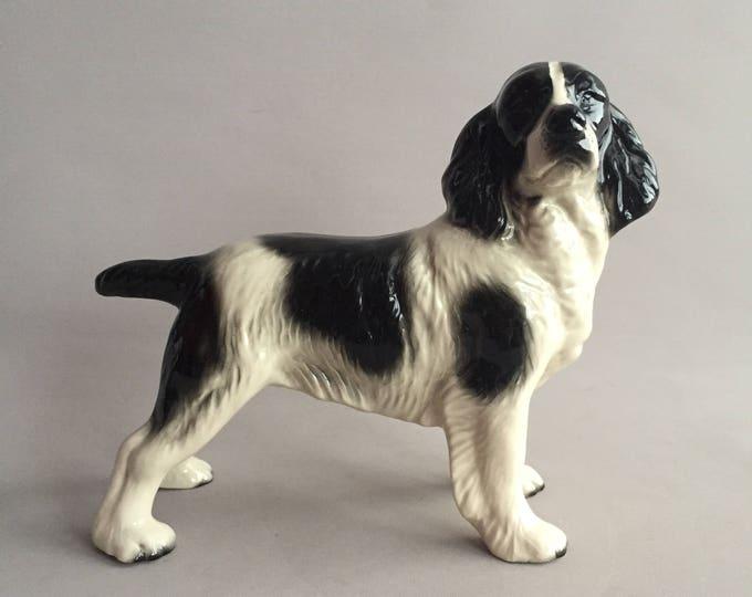 ceramic spaniel dog ornament