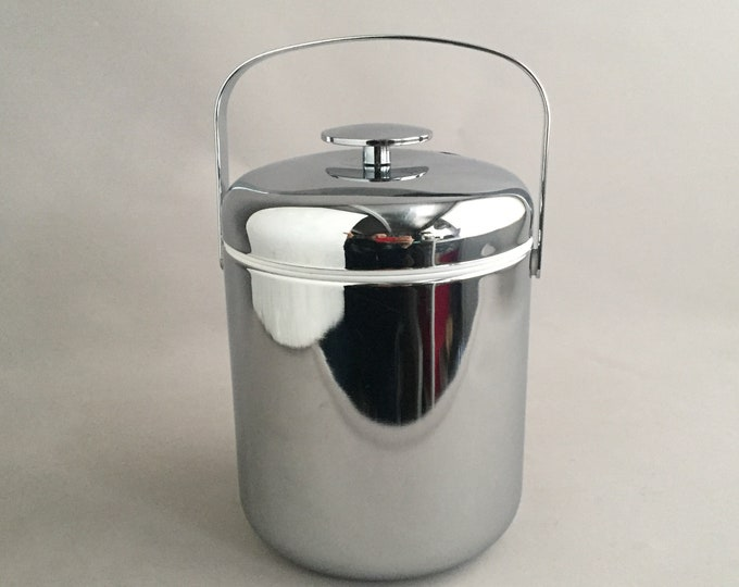 Vintage chrome ice bucket